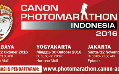 Canon PhotoMarathon 2016 Siap Digelar di Tiga Kota